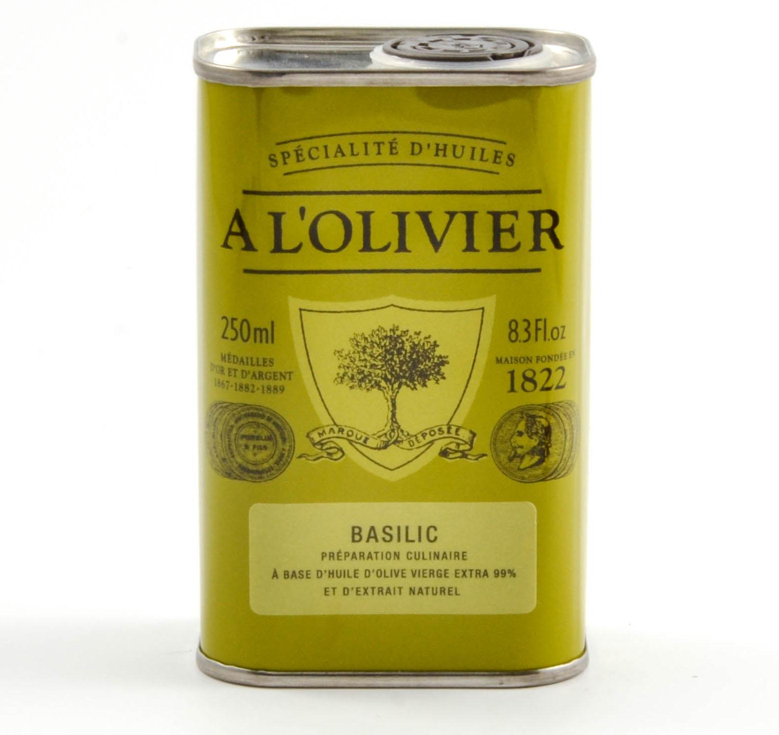 huile olive basilic