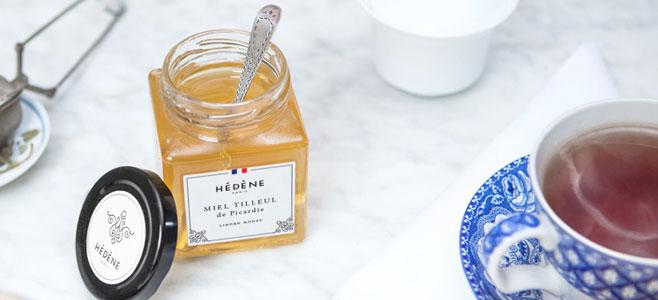 Un pot de miel Hédène Miel Tilleul